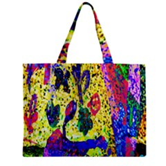 Grunge Abstract Yellow Hand Grunge Effect Layered Images Of Texture And Pattern In Yellow White Black Zipper Mini Tote Bag