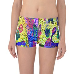Grunge Abstract Yellow Hand Grunge Effect Layered Images Of Texture And Pattern In Yellow White Black Reversible Bikini Bottoms