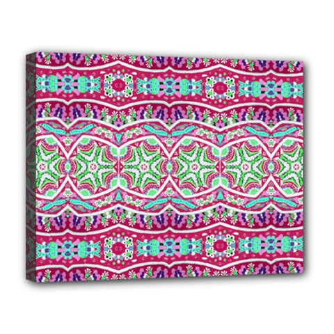 Colorful Seamless Background With Floral Elements Canvas 14  x 11