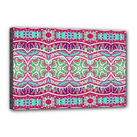 Colorful Seamless Background With Floral Elements Canvas 18  X 12