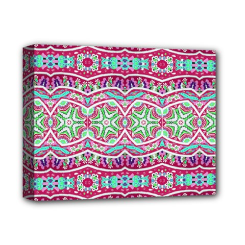 Colorful Seamless Background With Floral Elements Deluxe Canvas 14  x 11