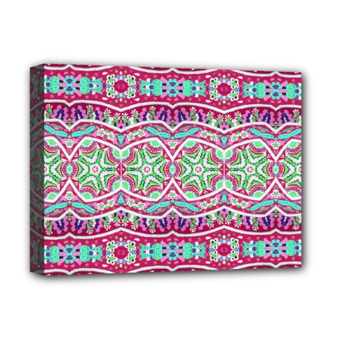 Colorful Seamless Background With Floral Elements Deluxe Canvas 16  X 12