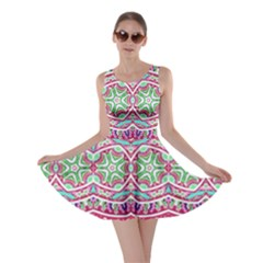 Colorful Seamless Background With Floral Elements Skater Dress