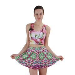 Colorful Seamless Background With Floral Elements Mini Skirt