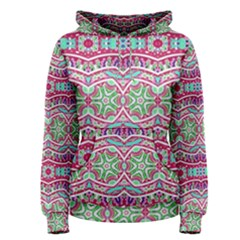 Colorful Seamless Background With Floral Elements Women s Pullover Hoodie