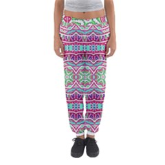Colorful Seamless Background With Floral Elements Women s Jogger Sweatpants