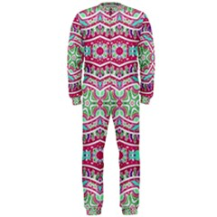 Colorful Seamless Background With Floral Elements Onepiece Jumpsuit (men)