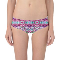 Colorful Seamless Background With Floral Elements Classic Bikini Bottoms