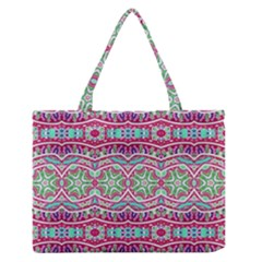 Colorful Seamless Background With Floral Elements Medium Zipper Tote Bag