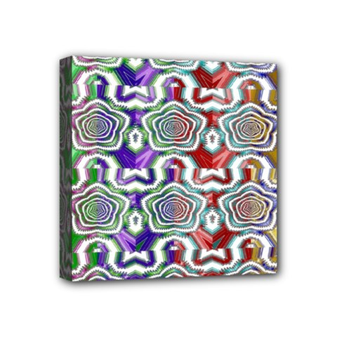 Digital Patterned Ornament Computer Graphic Mini Canvas 4  X 4