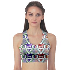 Digital Patterned Ornament Computer Graphic Sports Bra
