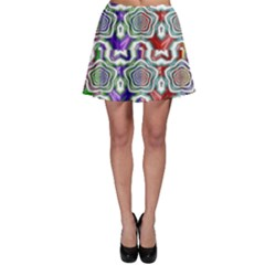 Digital Patterned Ornament Computer Graphic Skater Skirt
