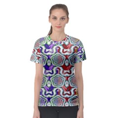 Digital Patterned Ornament Computer Graphic Women s Sport Mesh Tee