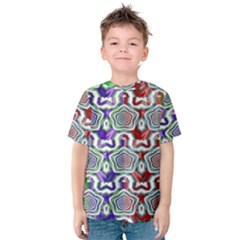 Digital Patterned Ornament Computer Graphic Kids  Cotton Tee