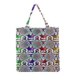 Digital Patterned Ornament Computer Graphic Grocery Tote Bag