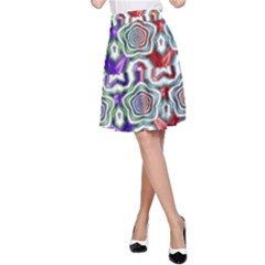 Digital Patterned Ornament Computer Graphic A Line Skirt