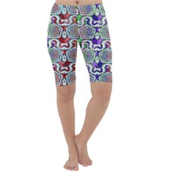 Digital Patterned Ornament Computer Graphic Cropped Leggings