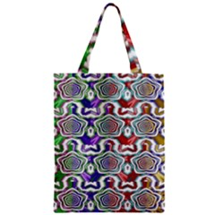 Digital Patterned Ornament Computer Graphic Zipper Classic Tote Bag
