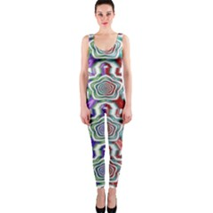 Digital Patterned Ornament Computer Graphic OnePiece Catsuit