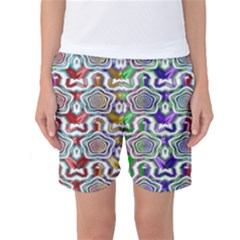 Digital Patterned Ornament Computer Graphic Women s Basketball Shorts