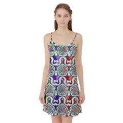 Digital Patterned Ornament Computer Graphic Satin Night Slip