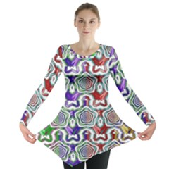 Digital Patterned Ornament Computer Graphic Long Sleeve Tunic