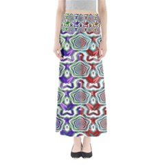 Digital Patterned Ornament Computer Graphic Maxi Skirts