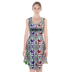 Digital Patterned Ornament Computer Graphic Racerback Midi Dress