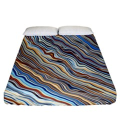 Fractal Waves Background Wallpaper Pattern Fitted Sheet (california King Size)