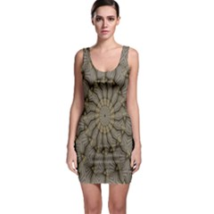 Abstract Image Showing Moiré Pattern Sleeveless Bodycon Dress