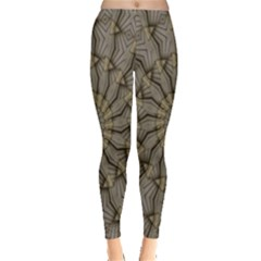 Abstract Image Showing Moiré Pattern Leggings