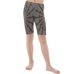 Abstract Image Showing Moiré Pattern Kids  Mid Length Swim Shorts
