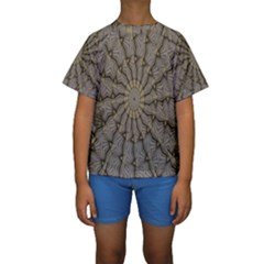 Abstract Image Showing Moiré Pattern Kids  Short Sleeve Swimwear
