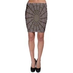 Abstract Image Showing Moir¨| Pattern Bodycon Skirt