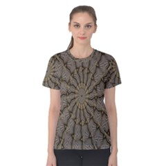 Abstract Image Showing Moir¨| Pattern Women s Cotton Tee