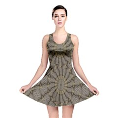 Abstract Image Showing Moir¨| Pattern Reversible Skater Dress