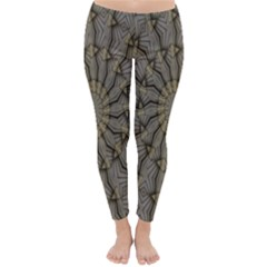 Abstract Image Showing Moir¨| Pattern Classic Winter Leggings