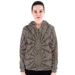Abstract Image Showing Moiré Pattern Women s Zipper Hoodie