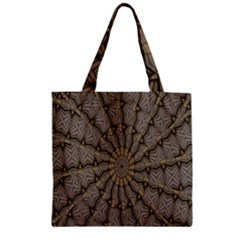 Abstract Image Showing Moir¨  Pattern Zipper Grocery Tote Bag