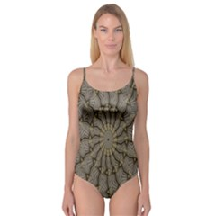 Abstract Image Showing Moir¨| Pattern Camisole Leotard