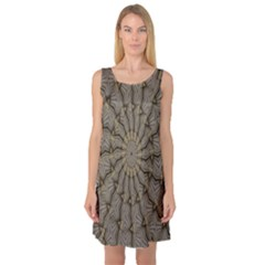 Abstract Image Showing Moiré Pattern Sleeveless Satin Nightdress