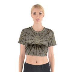 Abstract Image Showing Moiré Pattern Cotton Crop Top