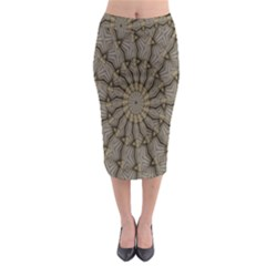 Abstract Image Showing Moiré Pattern Midi Pencil Skirt