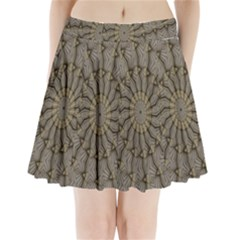 Abstract Image Showing Moiré Pattern Pleated Mini Skirt