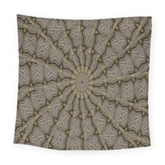 Abstract Image Showing Moiré Pattern Square Tapestry (large)