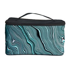 Fractal Waves Background Wallpaper Cosmetic Storage Case