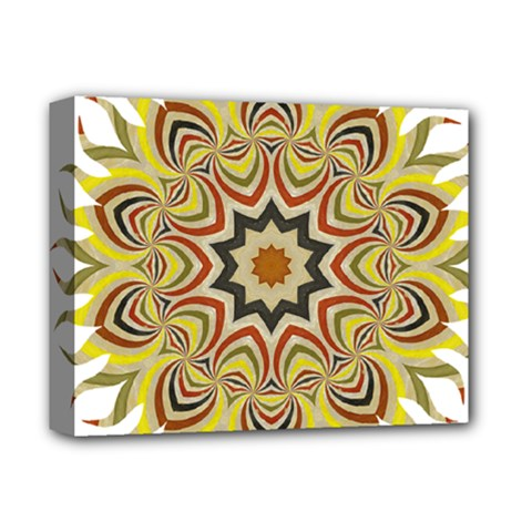 Abstract Geometric Seamless Ol Ckaleidoscope Pattern Deluxe Canvas 14  x 11