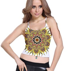 Abstract Geometric Seamless Ol Ckaleidoscope Pattern Spaghetti Strap Bra Top