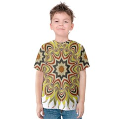 Abstract Geometric Seamless Ol Ckaleidoscope Pattern Kids  Cotton Tee