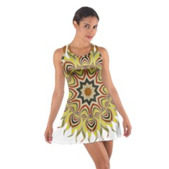 Abstract Geometric Seamless Ol Ckaleidoscope Pattern Cotton Racerback Dress